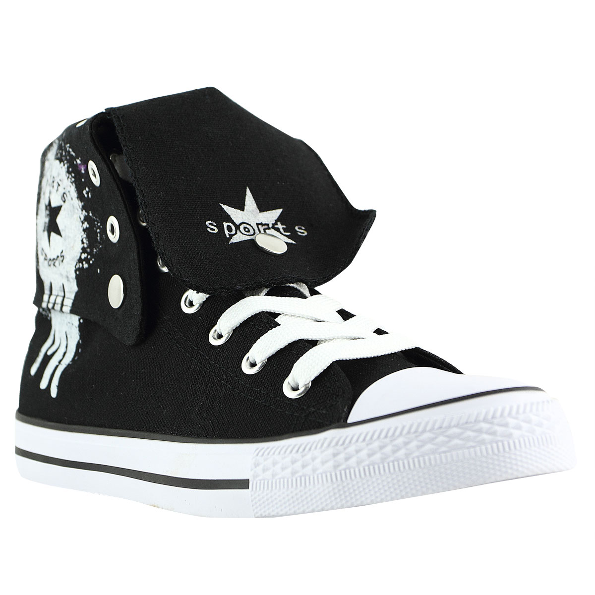 s ankle high top canvas shoes casual sneakers lace up