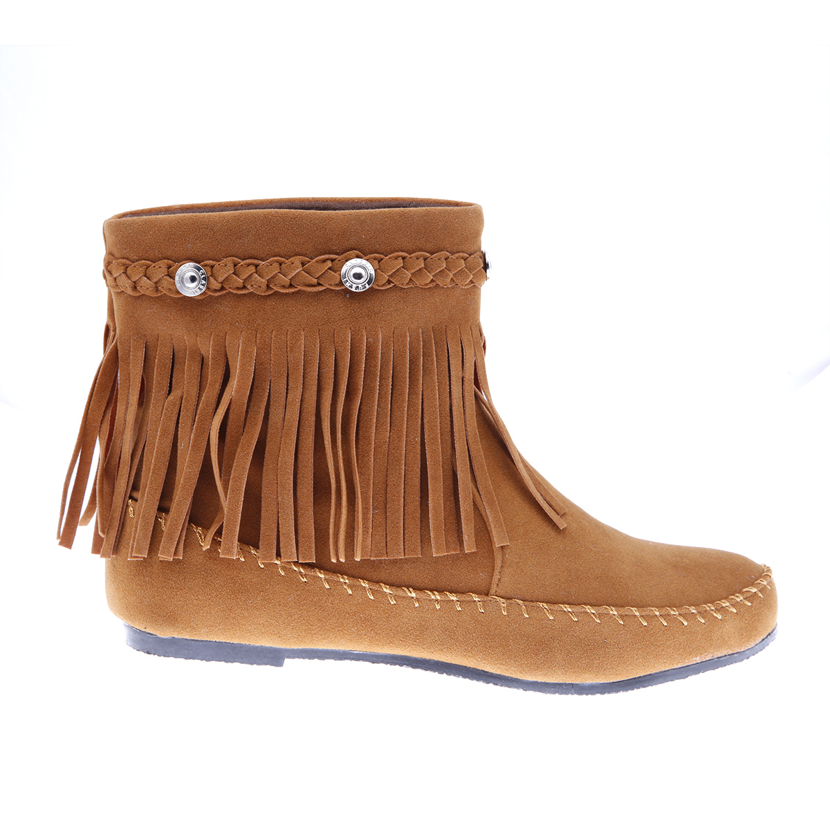 karyn ankle boots moccasin high top shoes fringe