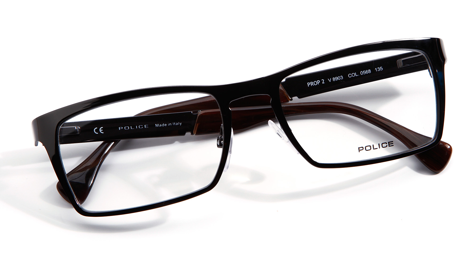 Mens Black Frame Reading Glasses : Police Retro Mens Prop 2-V-8903 Glasses Reading Black ...