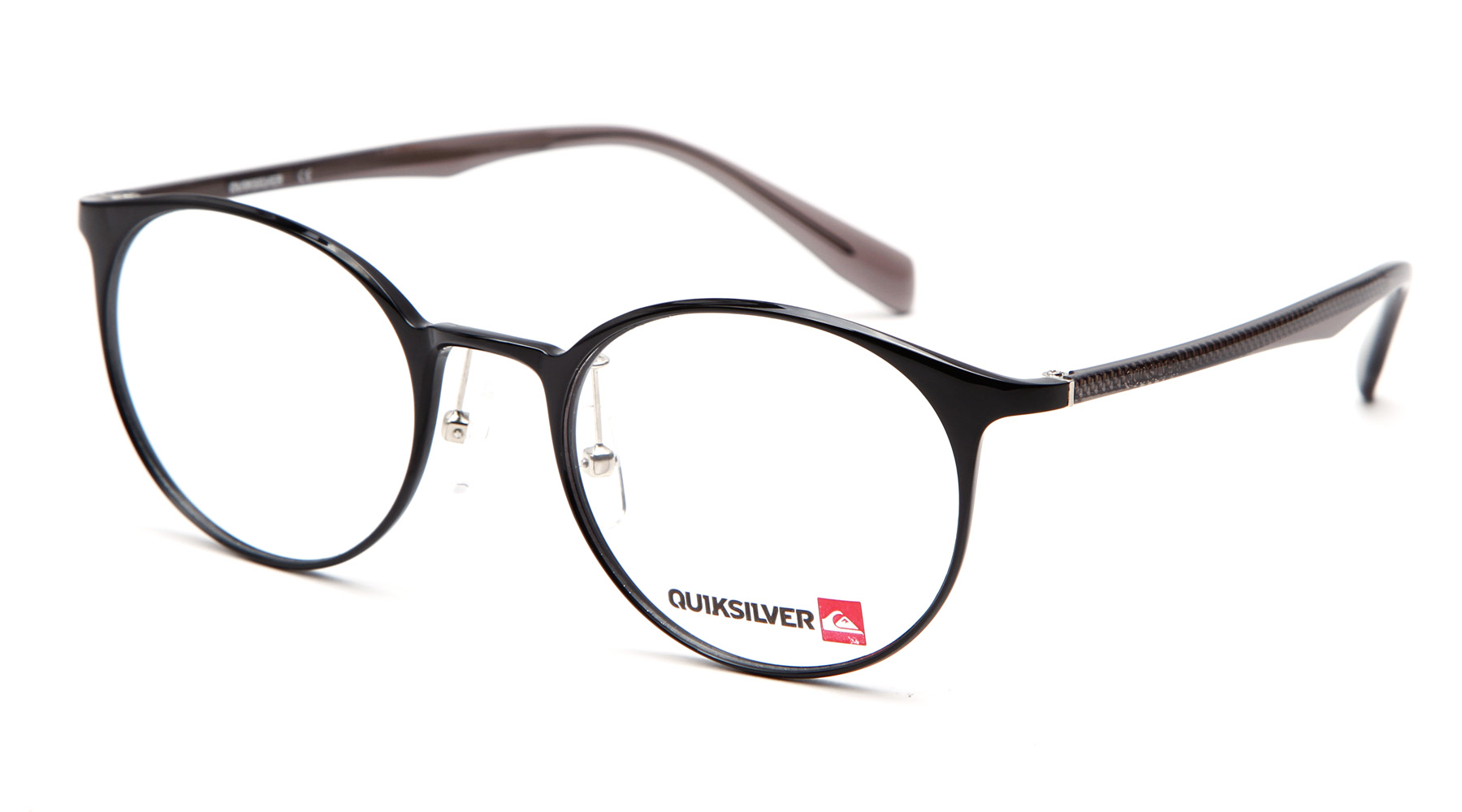 Quiksilver Eyeglass Frames : Quiksilver Mens Glasses QS084 Round Optical Full-Rim Black ...